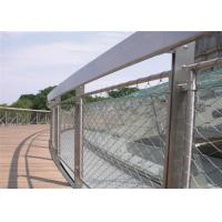 Buy cheap Flexible Handrail Fences Balustrade Cable Mesh , Stainless Steel Cable Mesh from wholesalers