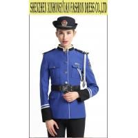 Buy cheap Blue Female Police Uniform / Police Woman Uniform Costume 100% Wool from wholesalers
