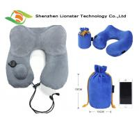 Buy cheap Airplane Sleeping Inflatable Travel Pillow With High Grade Crystal Velvet Fabric Material from wholesalers