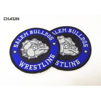 Buy cheap Heat Press Badge Custom Embroidered Patches , Iron On Patch Applique For Clothing from wholesalers