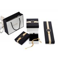 Buy cheap Small Decorative  Black Jewellry Box , Earring Necklace Bracelet Storage Box With Velvet Inner Cushion from wholesalers