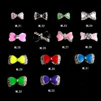 Buy cheap Charming 3D Nail Art Designs Nail Art Bow Tie Alloy Rhinestones DIY Decoration ML21-33 from wholesalers