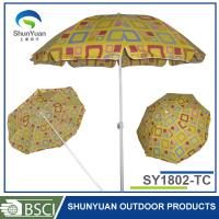Buy cheap with tilt push up Cheap outdoor promotional umbrella for beach from wholesalers
