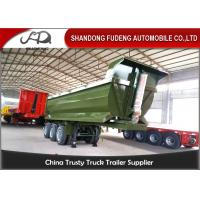 Buy cheap Tri - Axle Hydraulic Dump Semi Trailer U Or Square Shape 40CBM Box Dimension from wholesalers