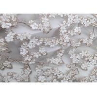 Buy cheap Hand Cut Beads Water Soluble Lace Fabric Embroidery Designs 3d Knitted Technics from wholesalers