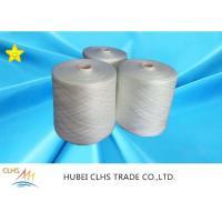 100% Polyester Original White Ring Spun Yarn For Sewing Garment