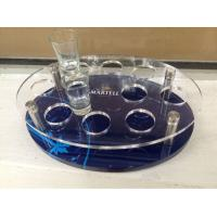 Quality Customized Acrylic Wine Display Case , Wine Glass Tray With Logo for sale