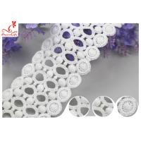 Buy cheap Circle Embroidery Water Soluble Lace With 100% Cotton / Ladder Lace Trim product