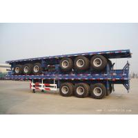 Buy cheap 50ton flatbed container semi truck trailer -  TITAN VEHICLE from wholesalers