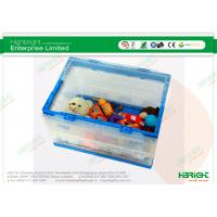 Buy cheap Heavy Duty Folding Plastic Boxes Storage Container in Transparent product