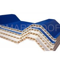 Buy cheap Noise Absorbing Double Wall Corrugated PVC Sheet 10MM , Plastic Hollow Sheet from wholesalers