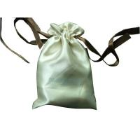 Buy cheap Deux Beige Shing Satin Ribbon Drawstrings Bag, Fabric Carrier Bags 2 Side Printing from wholesalers