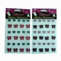Buy cheap Rhinestone/Crystal Stickers with Eco-friendly Material, Available in Various Sizes and Designs product