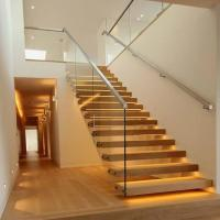 Buy cheap for sale diy design modern invisible stringer wood treads floating stairs/straight staircase from wholesalers
