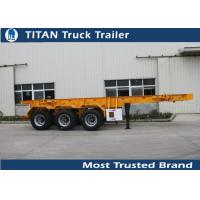 Buy cheap 30 Ton 20 feet skeletonshipping container chassis with 3 axles 7,000*2,480*1,550 mm from wholesalers