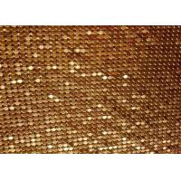 Buy cheap Fashion Brass / Aluminum Alloy Metallic Mesh Fabric Colth Sequin Fabric from wholesalers