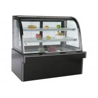 Buy cheap Black Marble Stainless Steel Refrigerated Cake Showcase With Back Sliding Door from wholesalers