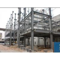 PVC Down Pipe High Rise Building Structures Grey Paint Surface