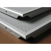 Buy cheap Moisture - Proof And Fireproof round hole Perforated metal false ceiling tile 600 x 600 for Offices from wholesalers
