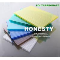 Buy cheap fire retardant hollow plastic sheet 4mm 6mm 8mm 10mm hollow polycarbonate sheet Foshan Honesty polycarbonate sheet from wholesalers