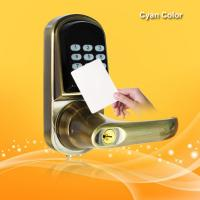 Buy cheap Smart RFID Card Door Lock High Tech Technology With Voice Prompt Speaker from wholesalers