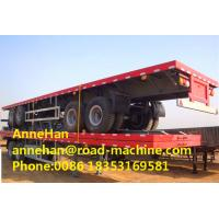 Buy cheap 40 Foot High Flatbed Semi Truck Trailer 3 FUWA Axles For Carry Container Cement Bags from wholesalers