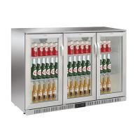 Buy cheap 330L Three Doors Back Bar Cooler Auto Defrost Type With Easy Cleaning Gasket,Stainless Steel and 85/90mm Height product