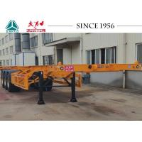 Buy cheap 40 FT Tri Axles Skeletal Container Trailer With Superior Carrying Capacity from wholesalers