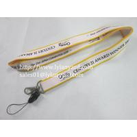 Buy cheap White and Yellow Color Silk Screen Lanyard With Cellphone Attachment from wholesalers