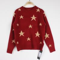 Buy cheap Knit Jacquard Sweaters Star pattern Cindy Red Plus Size Clothes from wholesalers