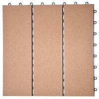 Buy cheap WPC cheap portable wooden floor/prefabricated decking 310*310*25mm (RMD-D6) from wholesalers