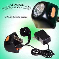 Buy cheap Safe 3.7 V 1W LED Miners Cap Lamp Headlamp AC 220V 4.5Ah with IECE ATEX from wholesalers