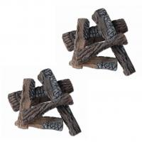 Buy cheap Classic Troubleshooting Gas Logs Sets S2-105 10pcs Fake Fire Logs For Gas Fireplace from wholesalers