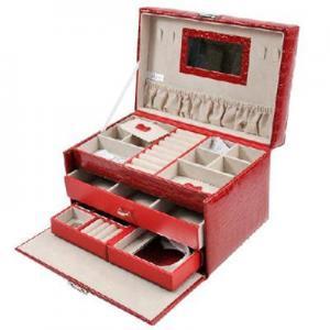 Buy cheap Senior PU three-large-capacity jewelry box / jewelry storage box red product
