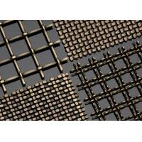 Buy cheap Plain Woven Brass Wire Mesh , Decorative Brass Wire Cloth 70% Copper Plus 30% Zinc from wholesalers