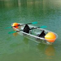 Buy cheap 2 Seats Plastic Clear Bottom Kayak For Sightseeing / Entertainment 24 KG Weight from wholesalers