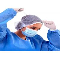 Buy cheap Blue 3 Ply Face Mask  , Tie On Disposable Non woven Mask For Operating Room from wholesalers