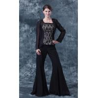 Buy cheap 2013 New Arrival Black Chiffon And Lace Layer Mother Of Bride Dresses With Pants Jacket from wholesalers