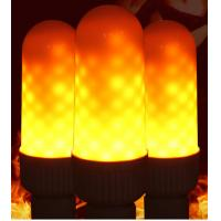 Buy cheap LED flame effect simulated nature fire light corn bulbs E27 decoration lamp 2018 hot selling from wholesalers