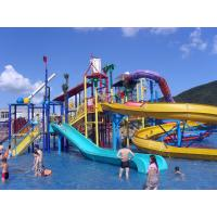 Buy cheap Water Playground Equipment Commercial Spiral Water Slide 23 * 22 * 12m product