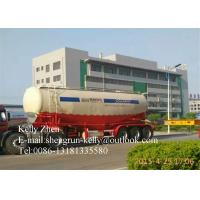 Buy cheap Tri - Axle V Shaped Cement Bulker , Bulk Cement Trailer Tank Semi Trailer from wholesalers