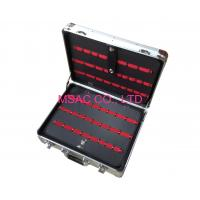Buy cheap Custom Silver Aluminum Tool Boxes with Plastic Tray , ABS Carrying Case from wholesalers