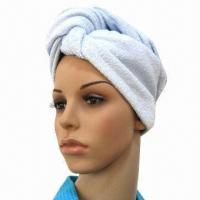 Buy cheap Head Towel, Made of Cotton Terry, Suitable for Beauty Salon or Personal Care from wholesalers
