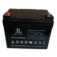 Buy cheap 33Ah 12v SLA Lead Acid Battery For Solar Storage , Deep Cycle VRLA Battery product
