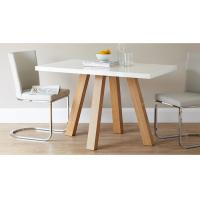 Buy cheap 4 Seater Modern Dining Table Furniture 1.2 Meters Length Matt Gray Lacquer Painting from wholesalers