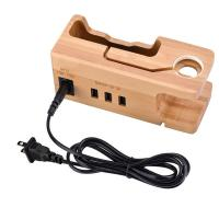 Buy cheap Multi - Port Wooden Phone Charger with Apple Watch Charging Base from wholesalers