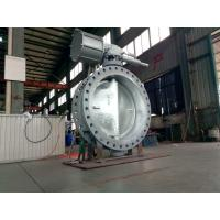 Buy cheap DN1200 High Performance Butterfly Valves , WCB Double Eccentric Butterfly Valve from wholesalers