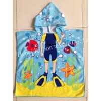 Buy cheap 60*120cm 100% polyester hooded baby bath towel,poncho for babies,diver for boys from wholesalers