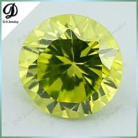 Buy cheap Factory price cubic zirconia gemstone apple green fake gems for clothing decoration from wholesalers