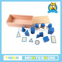 Buy cheap Montessori sensorial materials,wooden toys,educational toys for kids-Geometric Solids with from wholesalers